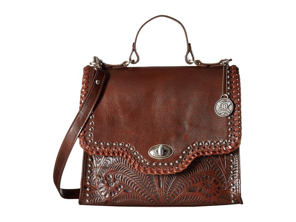 American West - Hidalgo Top-Handle Convertible Flap Bag (Chestnut Brown) Top-handle Handbags