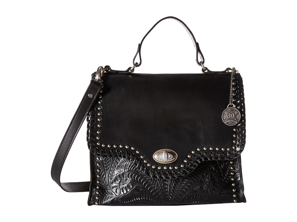 American West - Hidalgo Top-Handle Convertible Flap Bag (Black) Top-handle Handbags