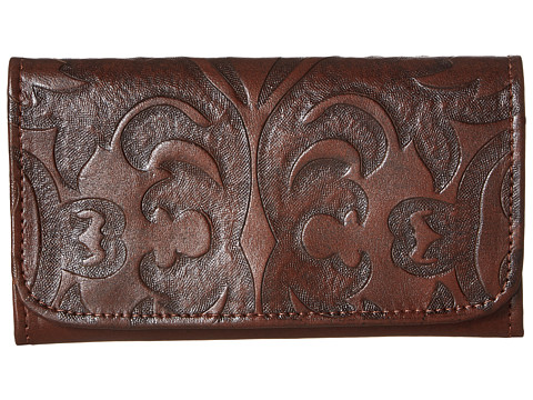 American West Baroque Trifold Wallet - Chestnut