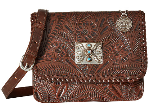 American West Grand Prairie Flap Crossbody - Chestnut Brown