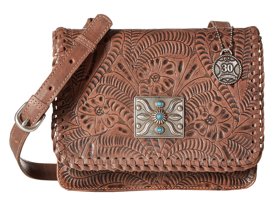American West - Grand Prairie Flap Crossbody (Dusty Rose) Cross Body Handbags