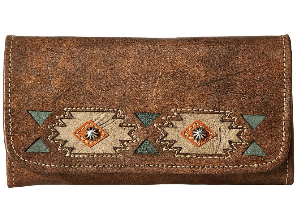American West - Native Sun Trifold Wallet