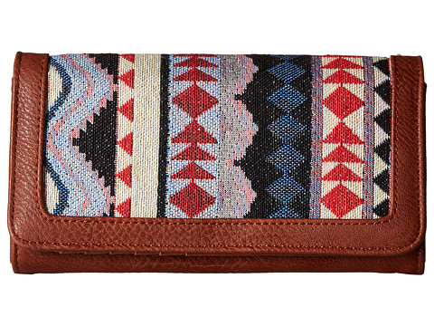 American West Tulum Flap Wallet - Tan/Multi