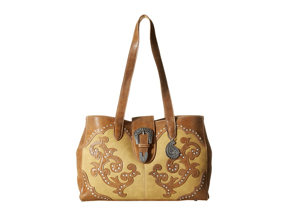 American West - Shady Cove Shopper Tote (Honey/Golden Tan) Tote Handbags