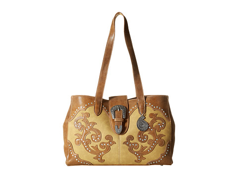 American West Shady Cove Shopper Tote - Honey/Golden Tan