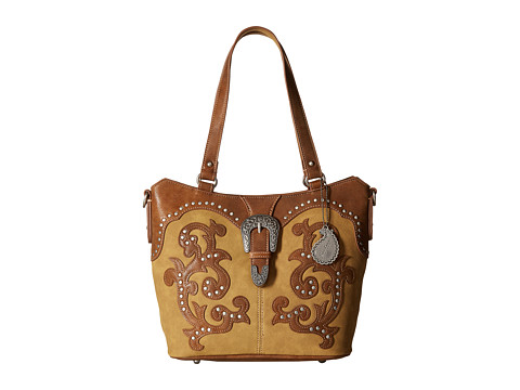 American West Shady Cove Convertible Tote - Honey/Golden Tan
