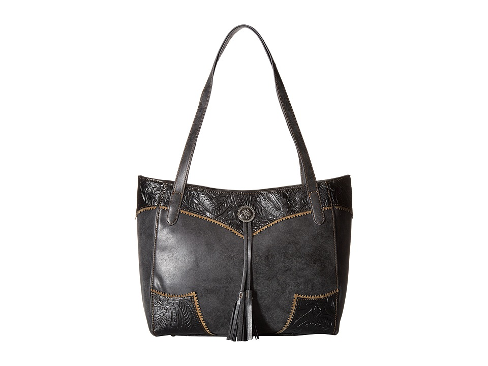 American West - Guns and Roses Secret Tote (Charcoal/Black) Tote Handbags