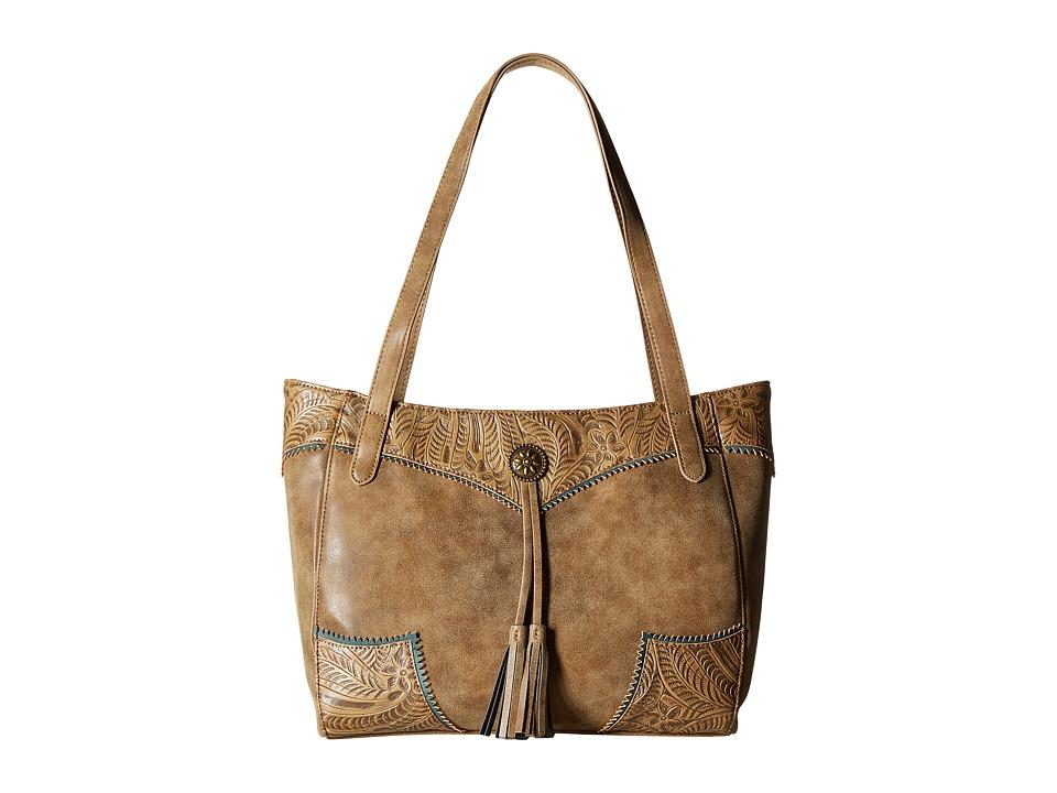 American West - Guns and Roses Secret Tote (Ecru/Sage) Tote Handbags