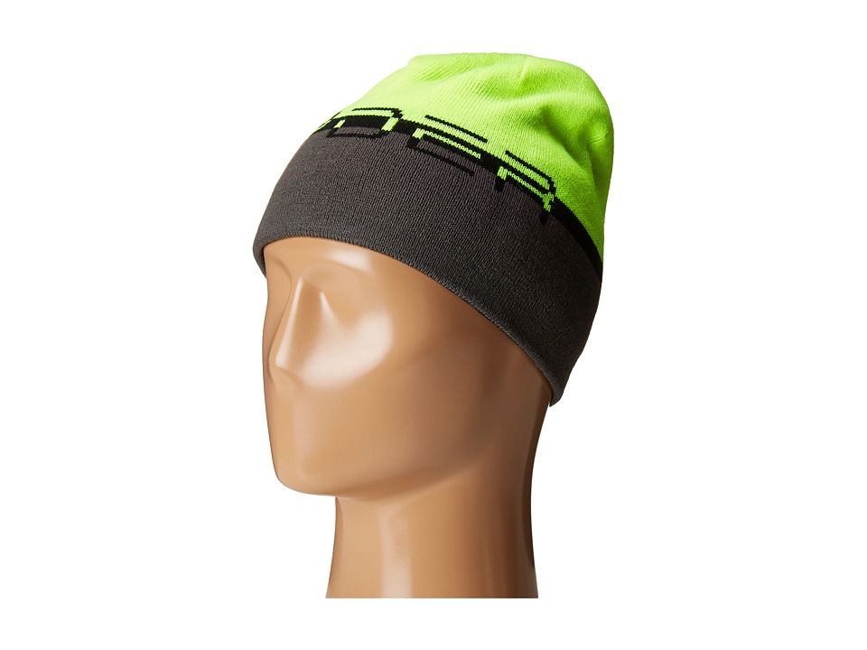 Spyder - Reversible Word Hat (Black/Bryte Yellow/Polar) Beanies