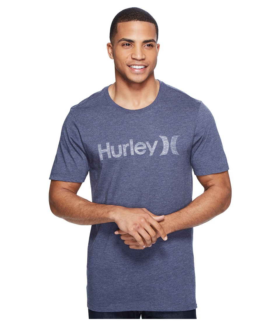 Hurley One and Only Push Through Tee (Obsidian Heather) Men