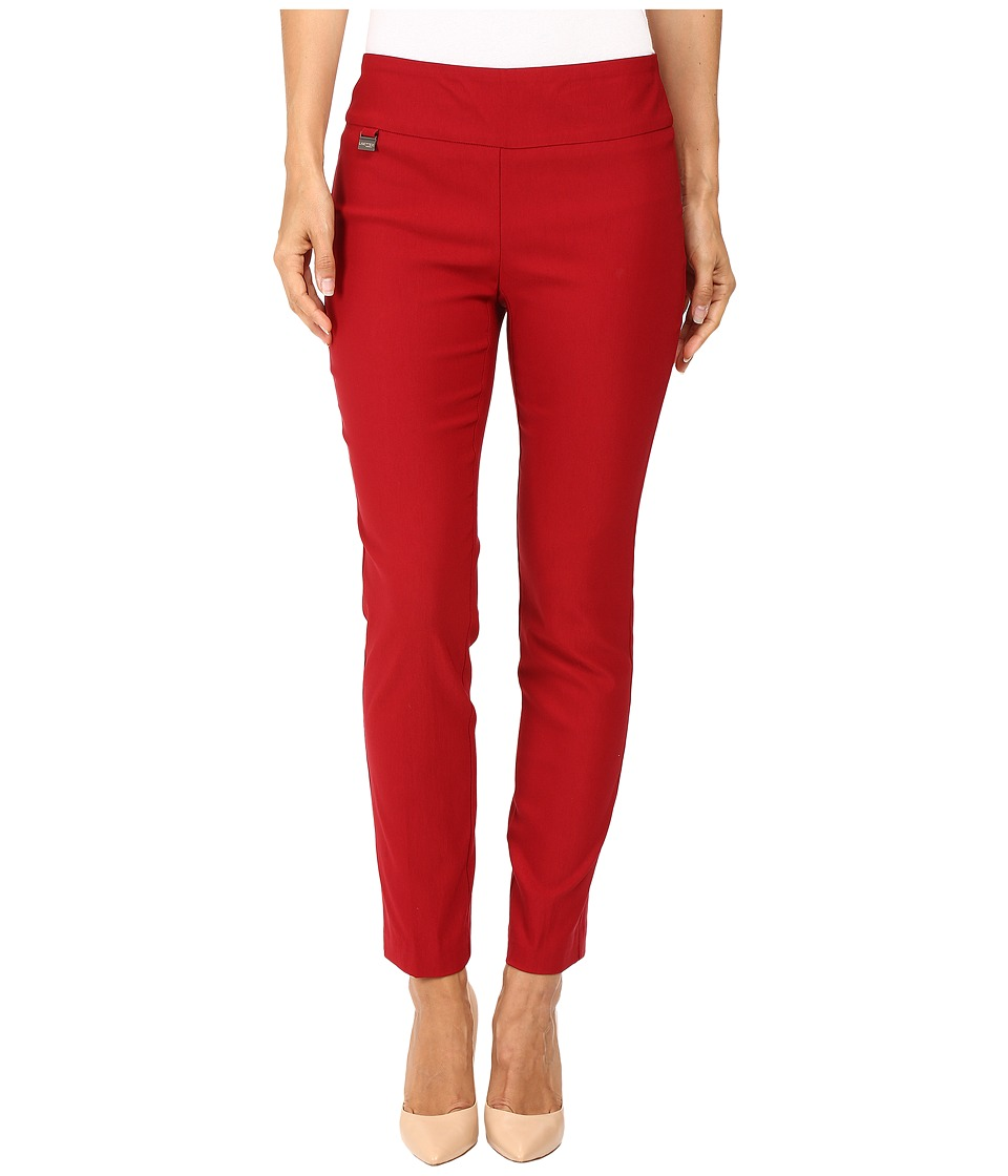 Lisette L Montreal Solid Magical Lycra Ankle Pants (Red) Women's Casual Pants