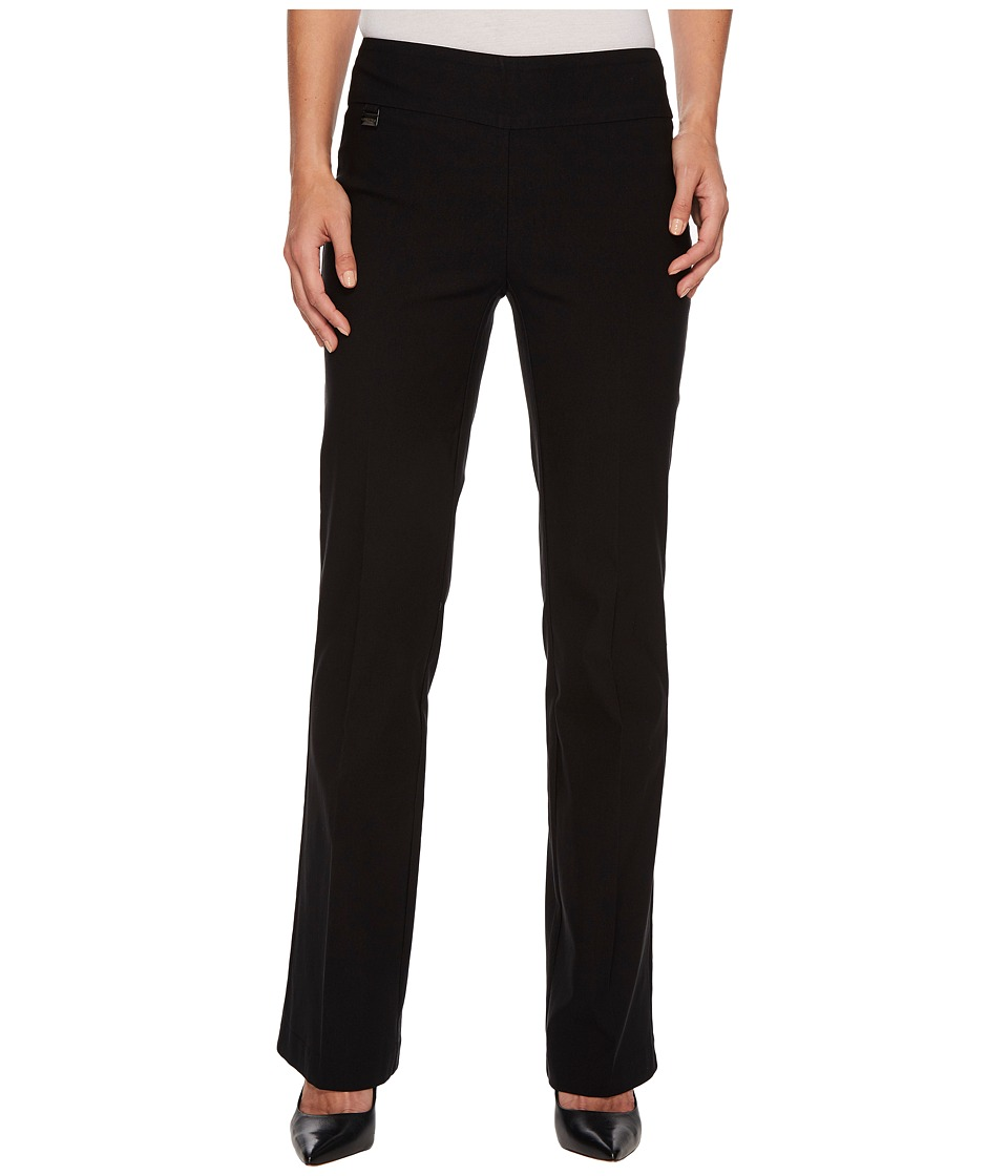 Lisette L Montreal - Solid Magical Lycra Bootcut (Black) Womens Casual Pants