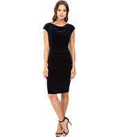 Vince Camuto - Drape Neck Sheath with Side Tucks