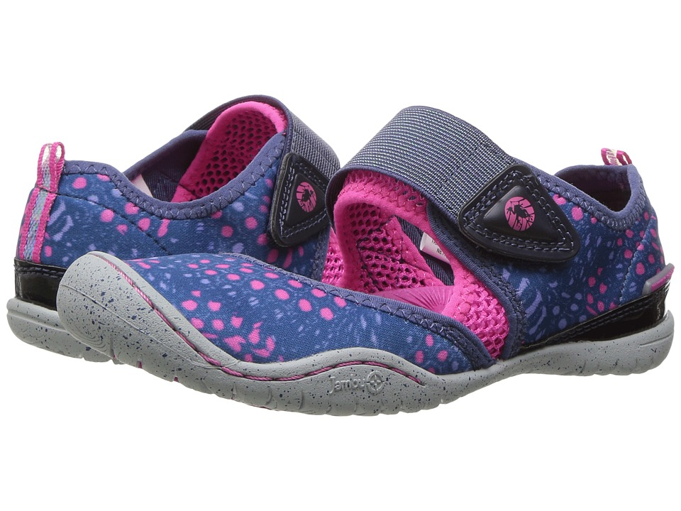 Jambu Kids Roza (Toddler/Little Kid/Big Kid) (Navy/Pink) Girls Shoes
