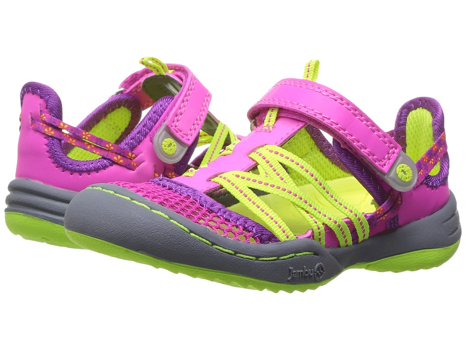 Jambu Kids Everly (Toddler) (Pink/Neon) Girls Shoes