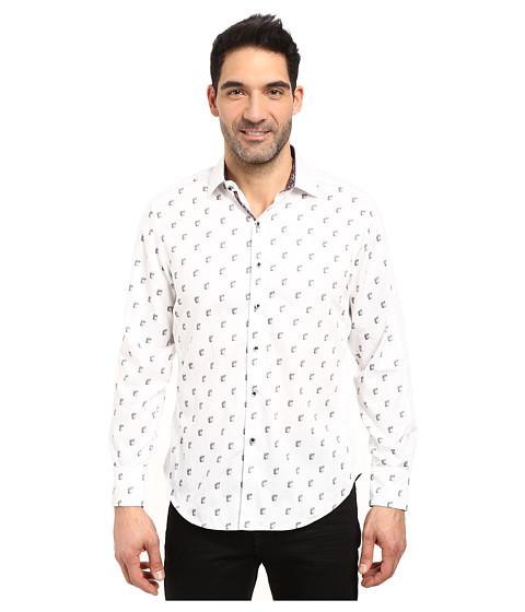 Robert Graham Davide Long Sleeve Woven Shirt - White
