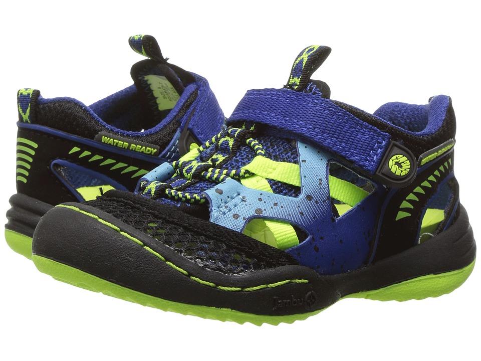 Jambu Kids - Squamata (Toddler) (Blue/Neon) Boys Shoes