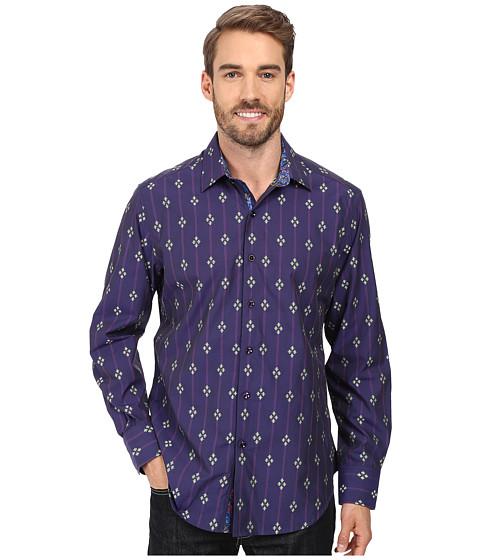 Robert Graham Jace Long Sleeve Woven Shirt - Purple
