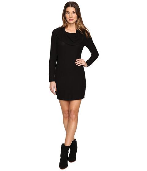 LNA Brenda Scarf Dress - Black