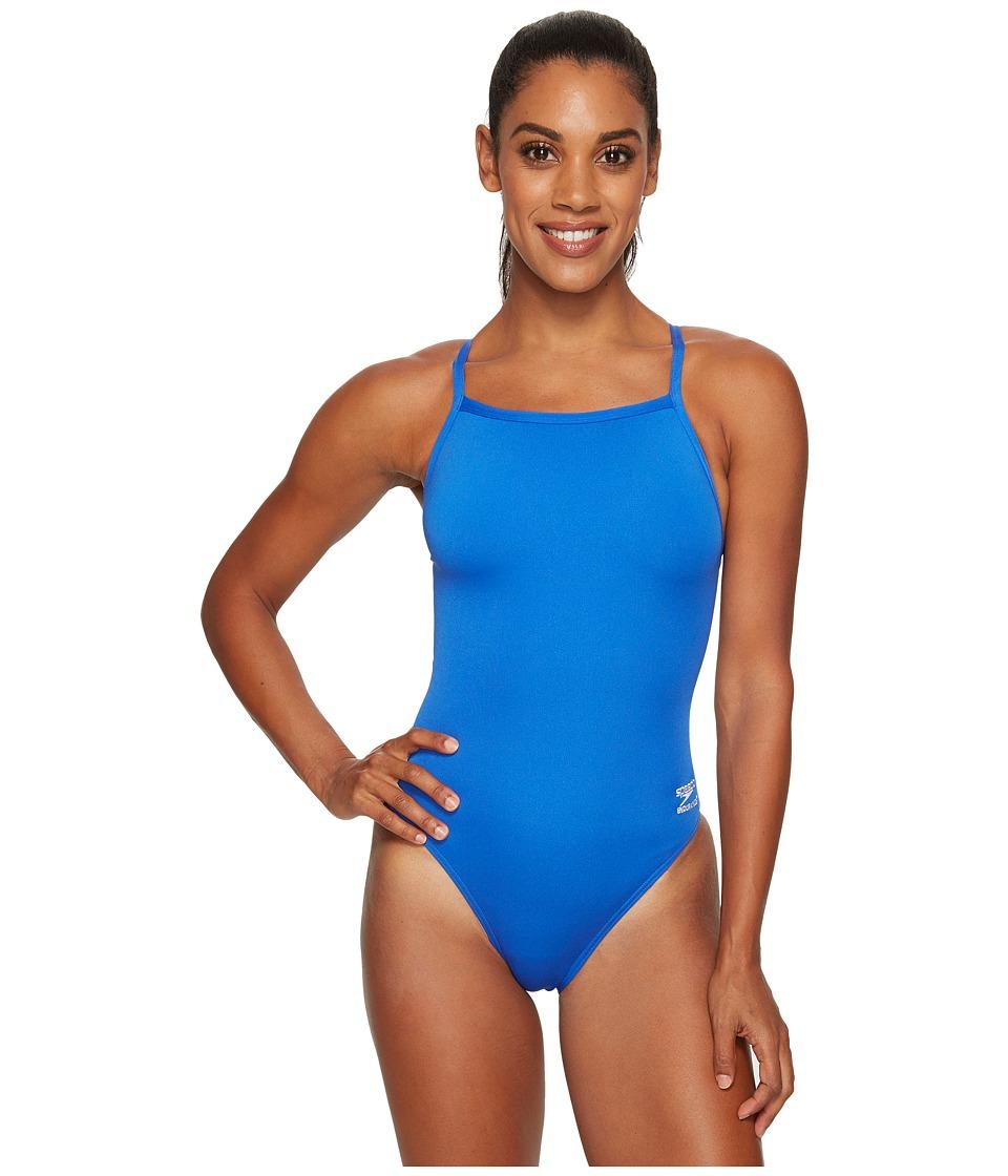 Endurance+ Flyback Training Suit (Speedo Blue) Women's Swimwear
