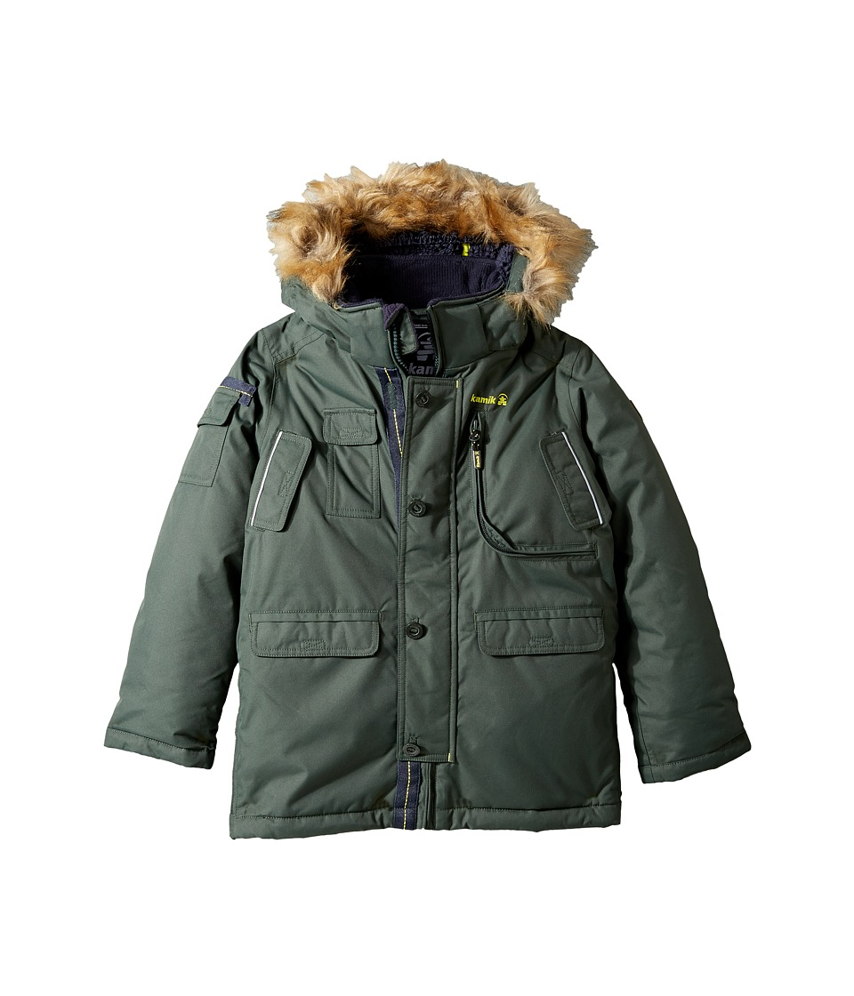 Kamik Kids Quin Winter Jacket (Todder/Little Kids) (Forest) Boy