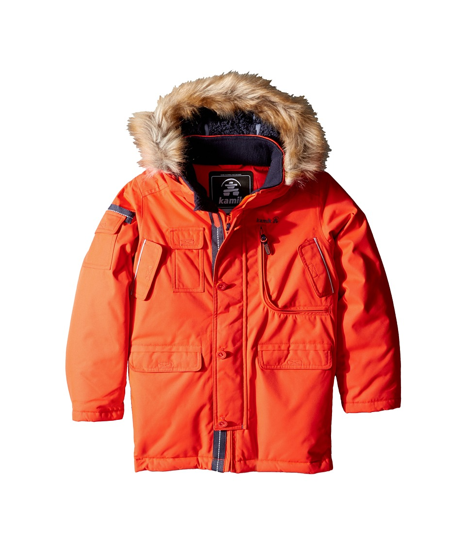 Kamik Kids Quin Winter Jacket (Todder/Little Kids) (Grenadine) Boy