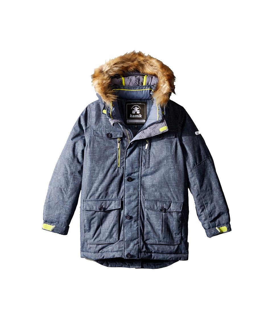 Kamik Kids - Darwin Noise Winter Jacket (Little Kids) (Graphite) Boy