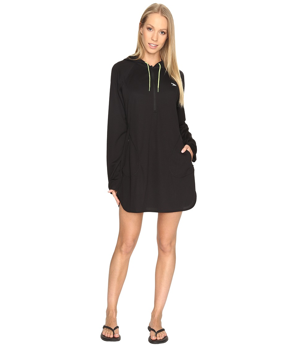 Speedo Hoodie Dress Cover-Up (Speedo Black)