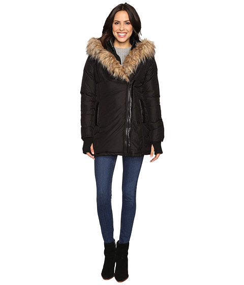 Steve Madden Fleece Jacket with Asymmetrical Zipper