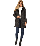 Steve Madden - Sweater Fleece Coat with Faux Fur Trim