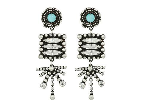 DANNIJO PARI Earrings - Ox Silver/Clear/Turquoise