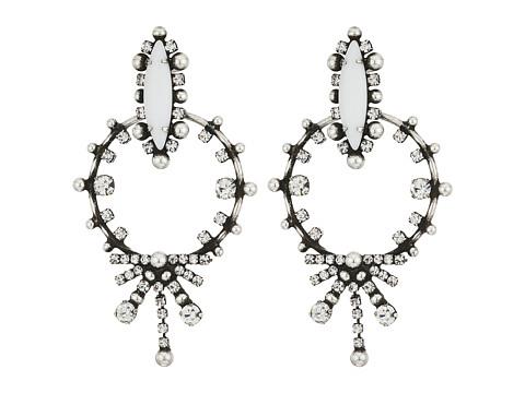 DANNIJO ANJA Earrings - Ox Silver/White/Crystal