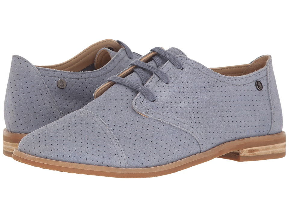 Hush Puppies Aiden Clever (Powder Blue Suede Perf) Women