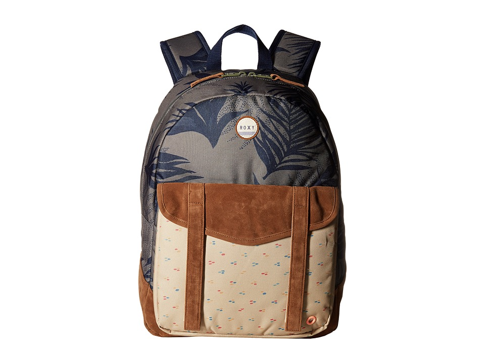 Roxy - Melrose Backpack (Indo Floral Combo/Dusty Olive) Backpack Bags