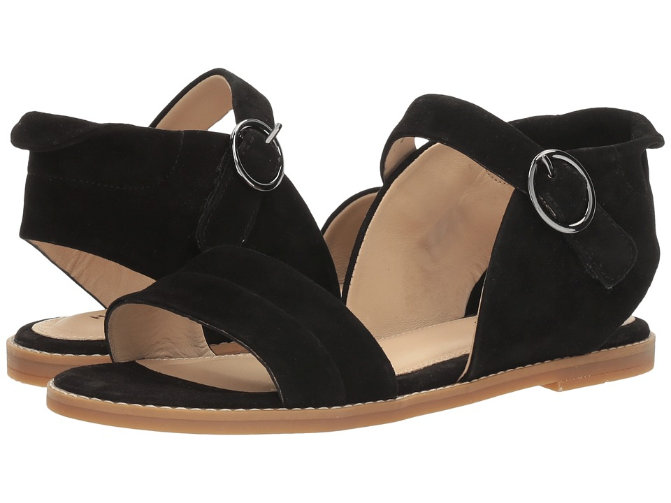 Hush Puppies - Abia Chrissie VL (Black Suede) Women's Sandals