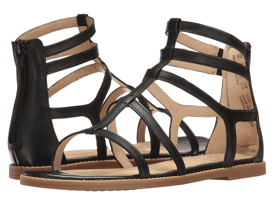 Hush Puppies - Abney Chrissie Lo (Black Leather) Women's Sandals
