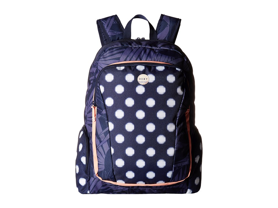 Roxy - Alright Backpack (Small Ikat Dots Combo/Peacoat) Backpack Bags