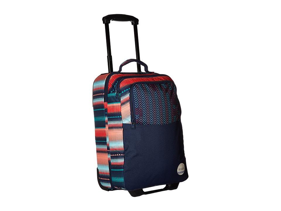 Roxy - Wheelie Roller Bag (Jagged Stripe) Bags