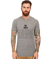 The Original Retro Brand - Short Sleeve Tri-Blend Music is Life Woodstock Tee