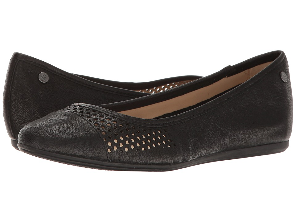 Hush Puppies Liza Heather (Black Leather Perf) Women