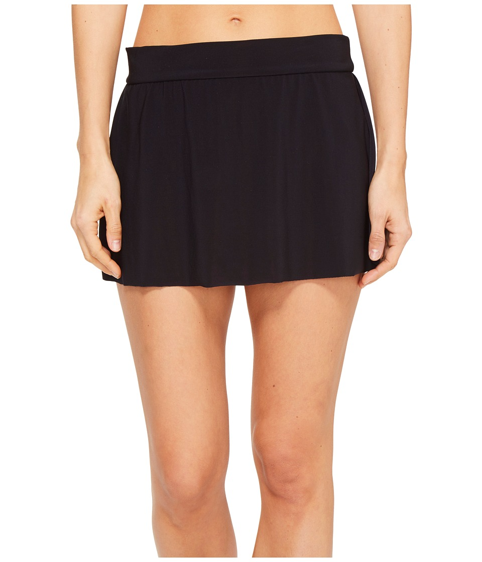 Magicsuit Solid Jersey Tennis Skirt Swim Bottom (Black) Women