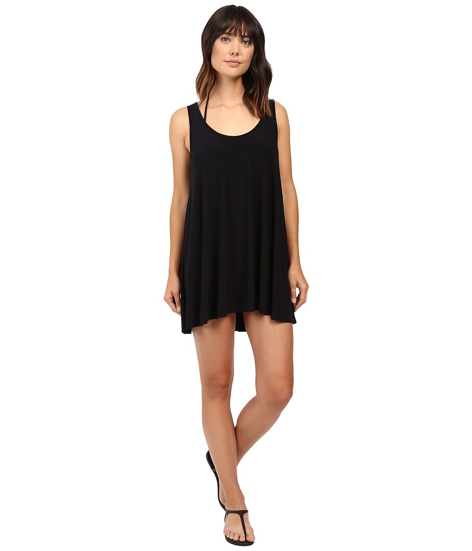 Magicsuit Solids A-Line Dress Cover-Up (Black) Women