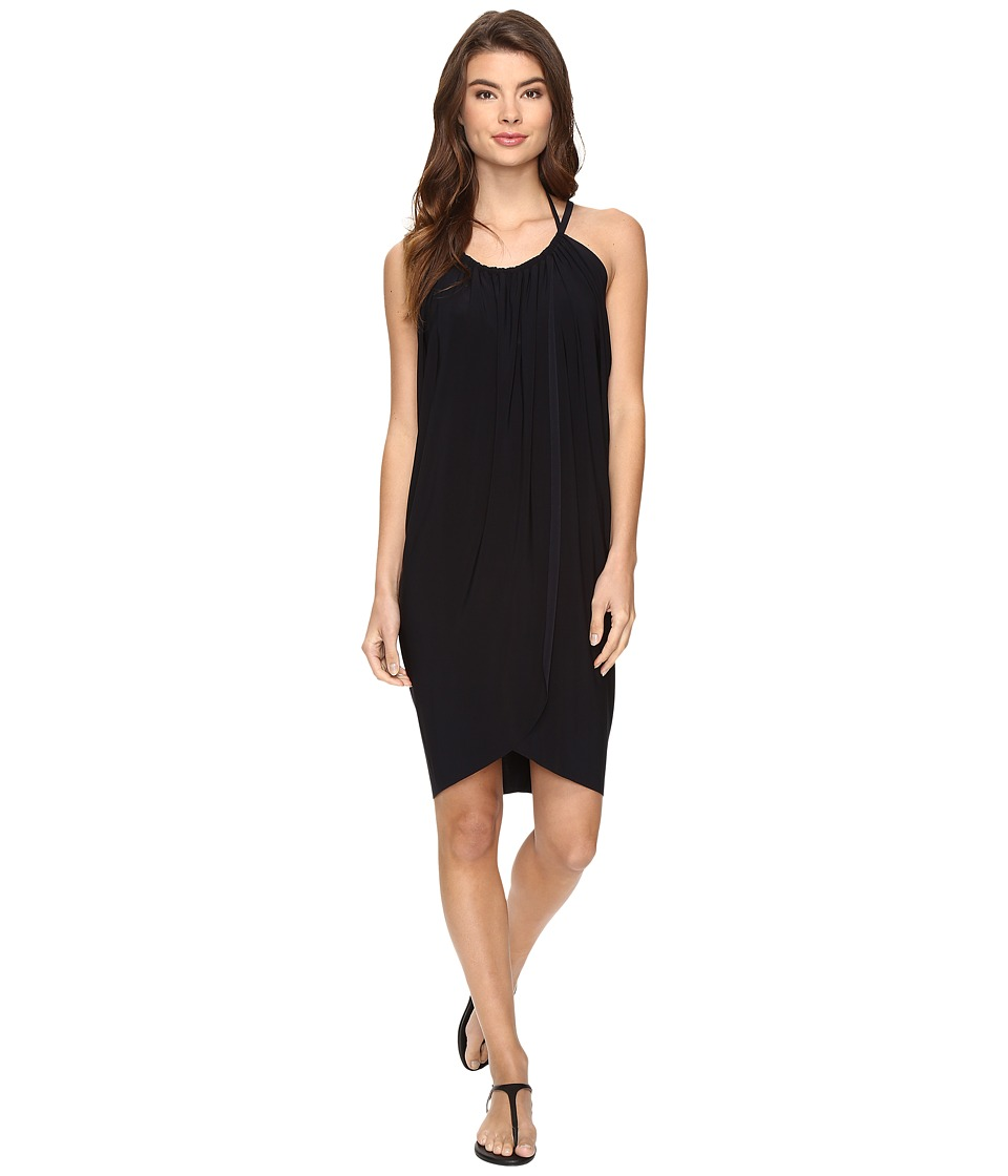 Magicsuit Solids Draped Cover-Up (Black) Women