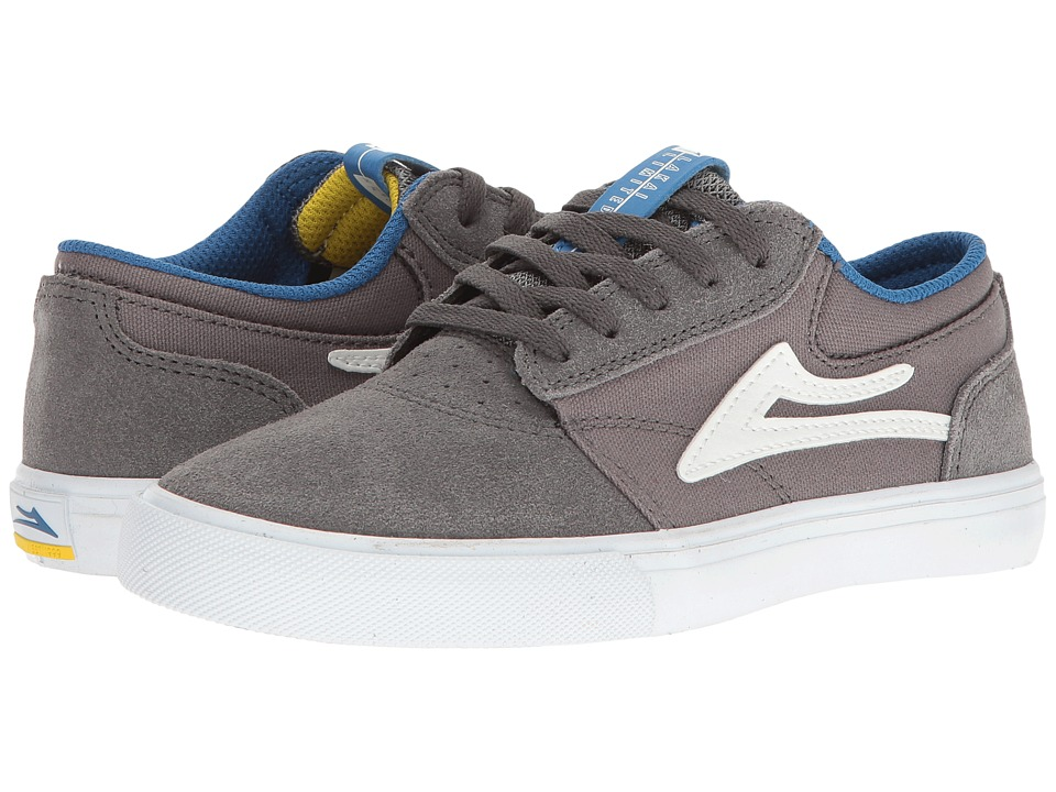 Lakai Griffin (Little Kid/Big Kid) (Grey/White/Blue Suede) Men