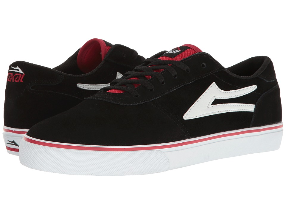 Lakai Manchester (Black/Red/White Suede) Men