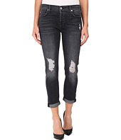 7 For All Mankind - Josefina w/ Destroy & Shadow Pockets - Clean Back Pocket in Black Shadow 2