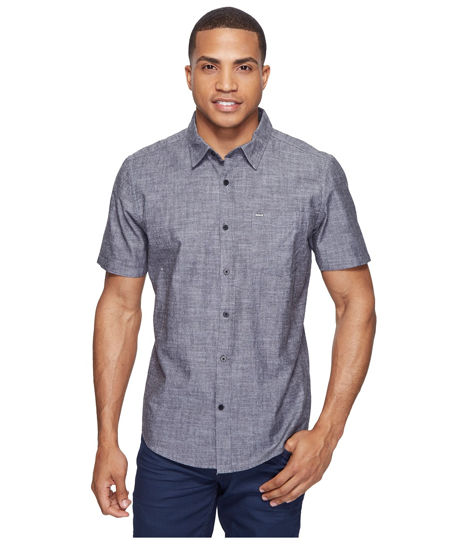 Hurley One Only SS Woven Shirt Black 3 Mens Short Sleeve Button Up