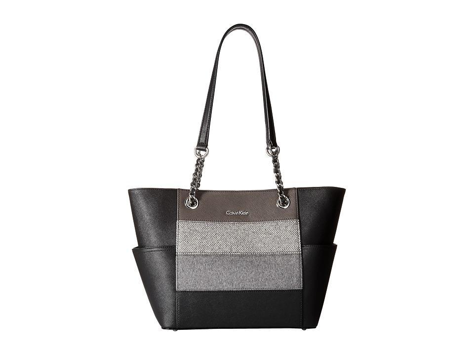 Calvin Klein - Key Items H3DA11HU (Grey Stripe) Tote Handbags