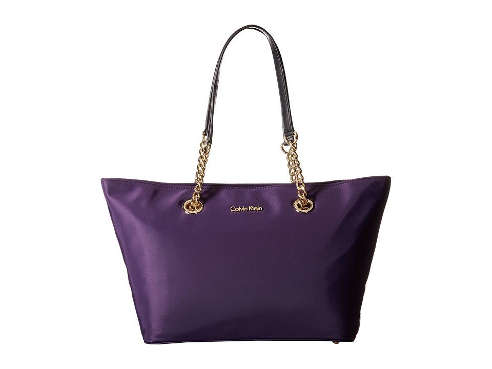 Calvin Klein - Nylon Tote (Acai/Black) Tote Handbags