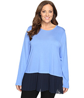 MICHAEL Michael Kors - Plus Size Pleated Woven Hem Top